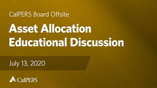 Asset Allocation Educational Discussion | July 13, 2020
