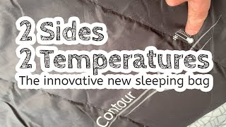 A double-sided double-temperature range sleeping bag