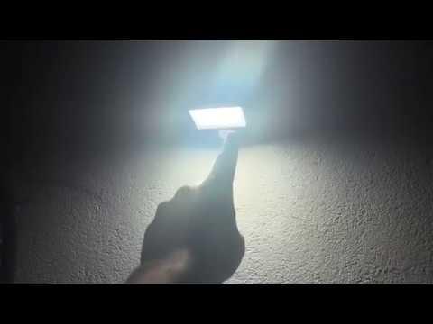 Solar Sensor Leuchte Wand- Solarlampe Benuo LED Bewegungsmelder Wasserdicht unboxing und Montage DIY