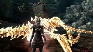 Skyrim. Убийство Древнего дракона с 2 выстрелов