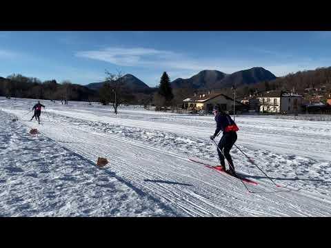 Gli azzurri di sci si allenano a Brinzio