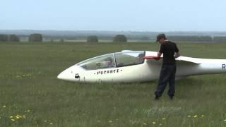 Учебный полет на планере