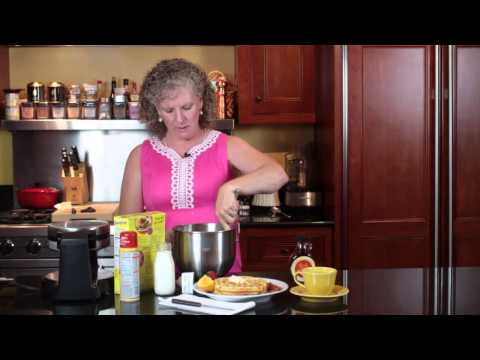 How To Make Waffles In A Waffle Maker With Pancake Mix For Six To Nine P... : Easy Southern Cooking Mp3