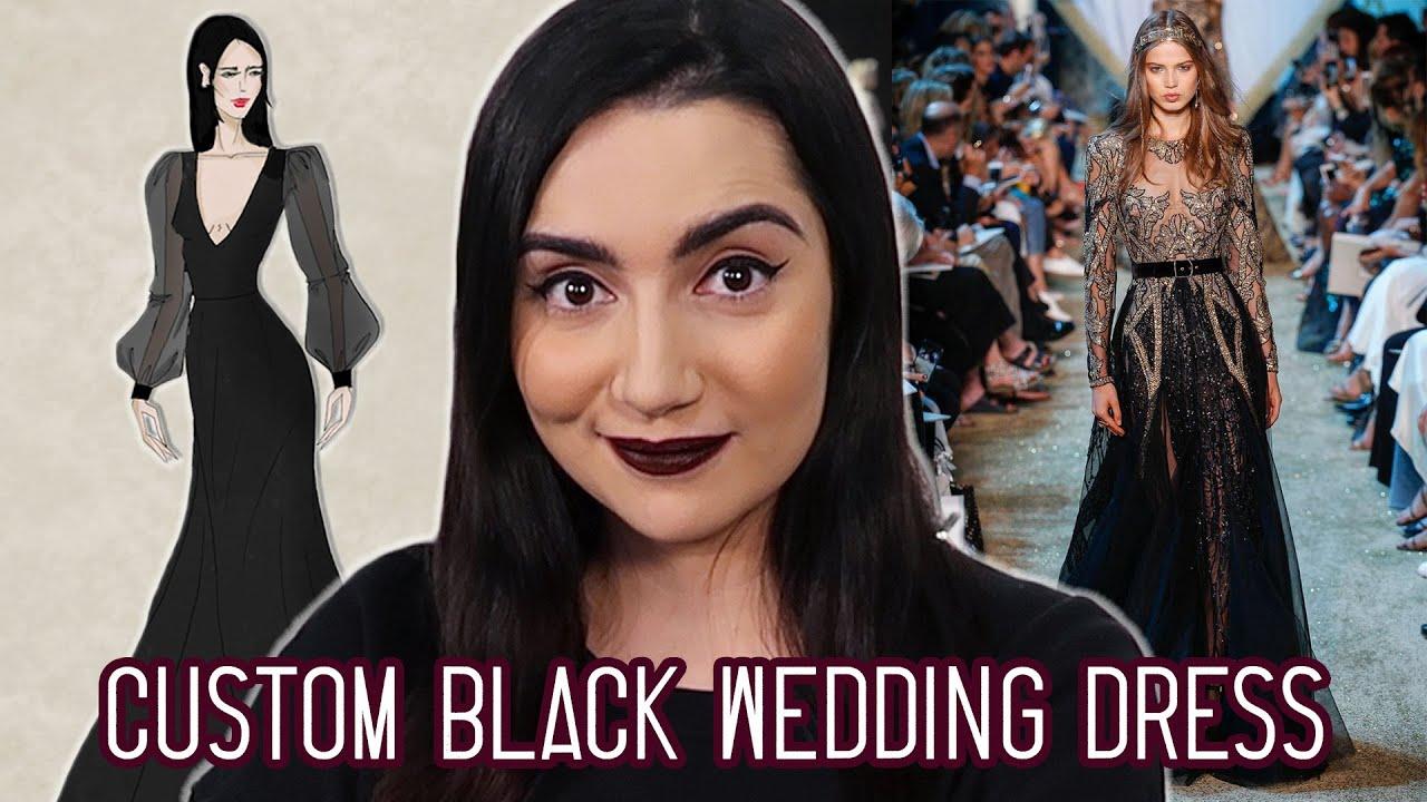 I Got A Custom Black Wedding Dress thumbnail