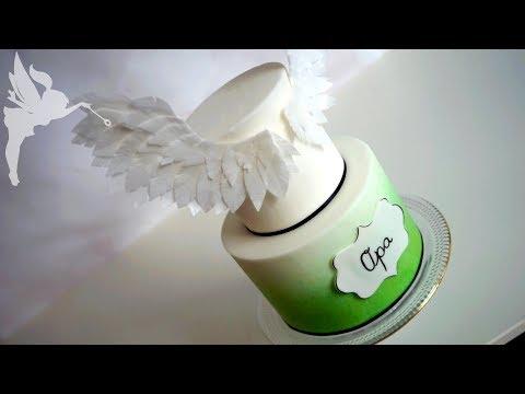 Esspapier Flügel & Airbrush Effekt ohne Airbrush Gerät - Torten Tutorial an Dummie - Kuchenfee