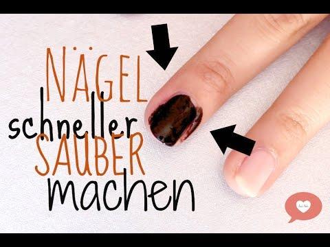Nägel schneller sauber machen deutsch