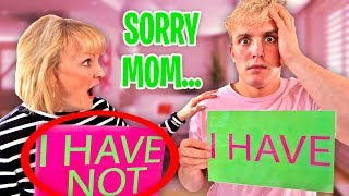 NEVER HAVE I EVER vs. MY MOM! (Jake Paul)