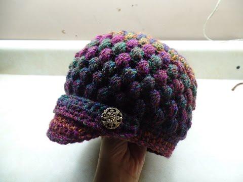 Crochet How To Crochet Newsboy Puff Stitch Hat Tutorial 254 Learn