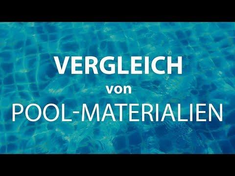 GFK-Pool, Folien-Pool oder Polypropylen-Pool PP? Vergleich von Materialien und Typen