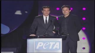 Casey Affleck & Joaquin Phoenix at Peta's 30th Anniversary