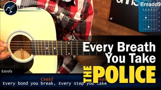 Como tocar Every Breath You Take THE POLICE En Guitarra Acustica (HD) Tutorial COMPLETO