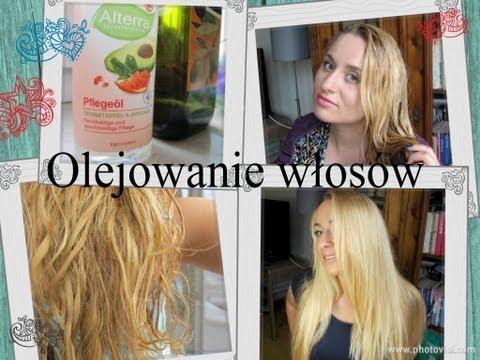 Wzmocnienie łopian włosów i olej rycynowy