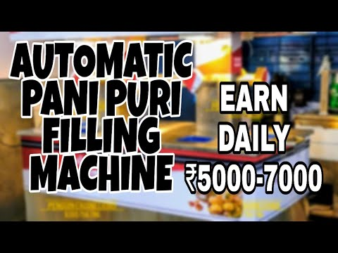 Automatic Pani Puri Serving Machine