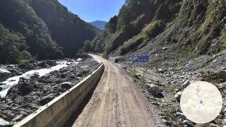 preview picture of video 'Street View Animation from Zhamo to Medog in Tibet'