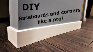 How to install baseboard and corners like a pro
