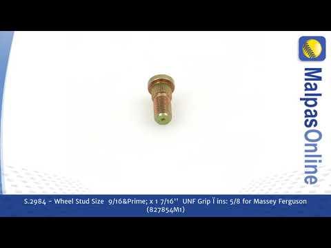 "S.2984 - Wheel Stud Size  9/16"" x 1 7/16''  UNF Grip � ins: 5/8  for Massey Ferguson (827854M1)"