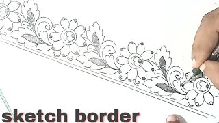 Saree Border Designs Drawing Free Video Search Site Findclip