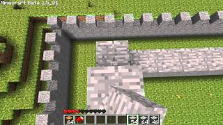 Minecraft   KolorowePiksele #5   Budowa Zamku