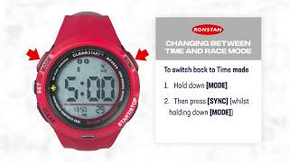 Instructions on how to use Ronstan ClearStart™ Race Timer and Watches