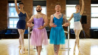 GYMNASTS TRY 'BALLET DANCING'!