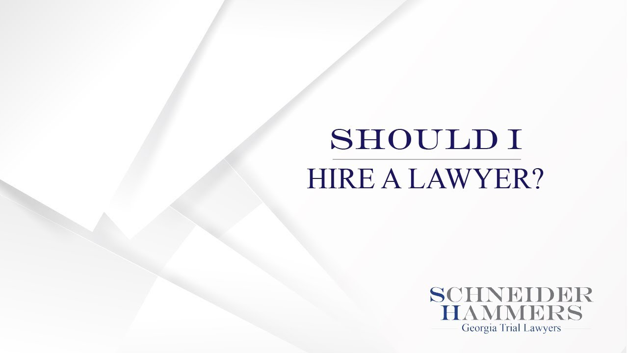 When To Hire An Atlanta Personal Injury Attorney