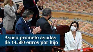 Ayuso promete ayudas de 14.500 euros por cada hijo para las madres menores de 30 años
