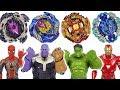 Beyblade Super Zetsu B 127 128 Appeared Avengers Vs Tha