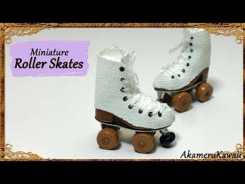 Miniature Doll Roller skates - Polymer Clay Tutorial