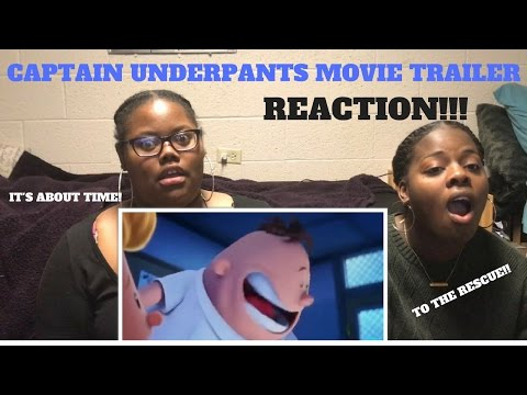CAPTAIN UNDERPANTS:THE FIRST EPIC MOVIE TRAILER (REACTION!!)