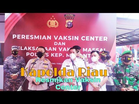 VIDEO: Diresmikan Kapolda Riau, Vaksin Center Polres Meranti Targetkan 1.000 Vaksin Perhari