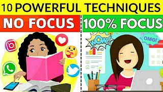 10 SECRET TIPS TO STAY FOCUS | HOW TO STUDY WITH FULL CONCENTRATION 100% EFFECTIVE TRICKS & HACKS