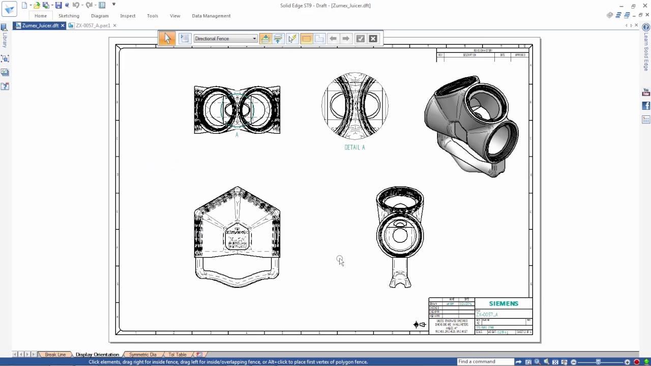Vorschaubild: Solid Edge ST9: Neue Funktionen für die Zeichnungserstellung