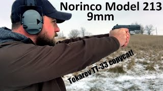 Shooting the Norinco 213 9mm