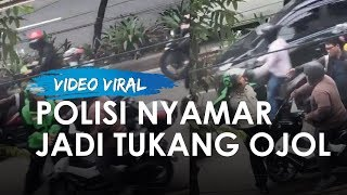 Pemotor Diberhentikan Polisi yang 'Nyamar' Jadi Ojol, Sempat Tak Terima Akhirnya Nyalinya Ciut