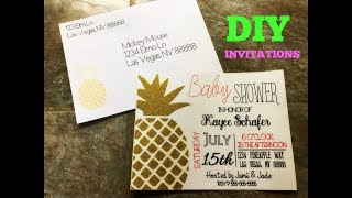 How to make invitations and label envelopes with Cricut Explore and Cricut Pens