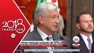 AMLO y Peña Nieto, primer mensaje juntos