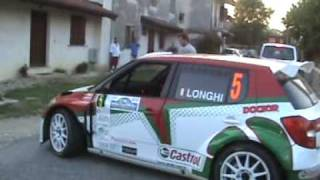 preview picture of video 'Post-Crash Longhi Skoda Fabia s2000 Shakedown 45° Rally Del Friuli 2009'