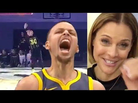 WATCH: Steph Curry's Hot Mom Knocks Down INSANE Underhanded Half-Court Shot!