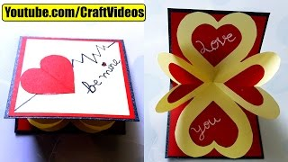 How to make pop up card I love you | Valentine