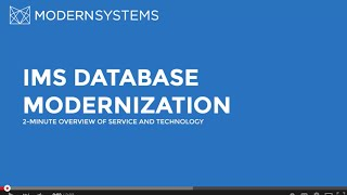 2-Minute Overview: IMS Database Modernization