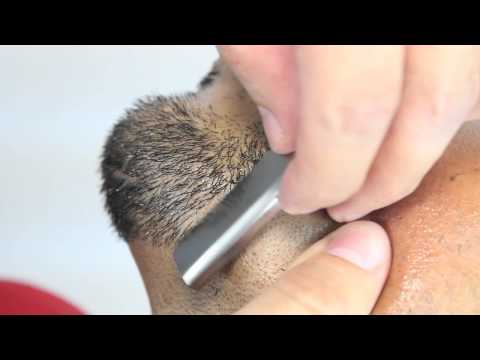 How to do a Proper Straight Razor Shave and Goatee Trim by Pacinos The Barber