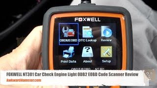 FOXWELL NT301 Car Check Engine Light ODB2 EOBD Code Scanner Review