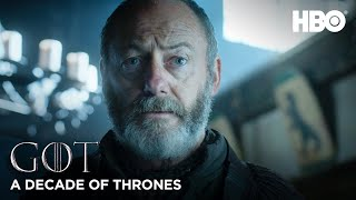 A Decade of Game of Thrones | Liam Cunningham on Davos Seaworth (HBO)