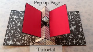 Pop-up Album - How To Create Pop-up Page | Tutorial | DIY | Scrapbook Page