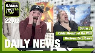 Zelda: Breath of the Wild, Outlast 2, Horizon: Zero Dawn | Games TV 24 Daily - 22.02.2017
