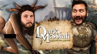 KNIGHTS OF THE POUND TABLE - Dark Messiah of Might and Magic Gameplay Part 1