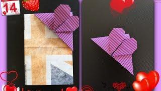 簡単 おりがみ    ハート しおり   How To Origami