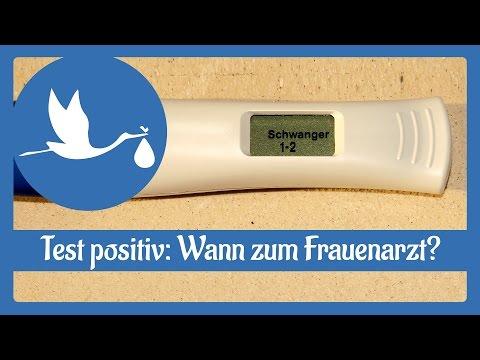 Schwangerschaft: Wann zum Frauenarzt gehen, wenn der Test positiv ist?