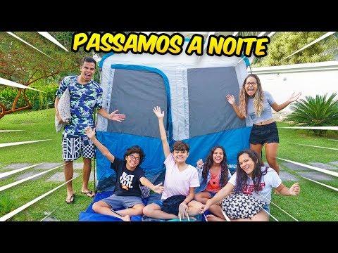 ACAMPAMOS FORA DE CASA COM AS CRIANÇAS! - *DEU RUIM* - KIDS FUN