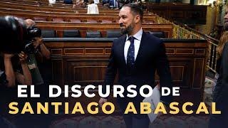 El discurso de Abascal en cinco minutos (y la réplica de Pedro Sánchez)